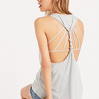 Somedays Lovin Solace Jersey Knot Tank Top in Grey - Urban Outfitters