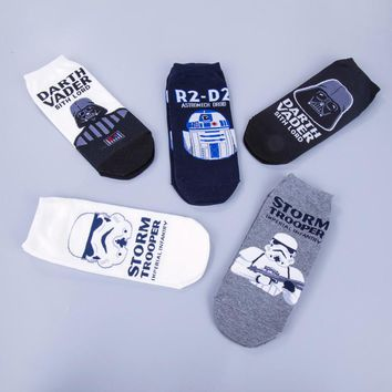 Star Wars Patterns Mens' Cotton Casual Socks