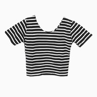 Stripe Crop Top | Choies
