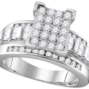 10k White Gold Diamond Cindy's Dream Cinderella Bridal Wedding Engagement Ring 2 Cttw Size 10 111685