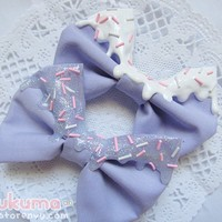 Glitter x Cake Lilac Bow (PAIR)