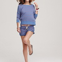 Juicy Couture Stripe French Terry Cloth Top and Shorts | Bloomingdale's