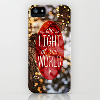 Christmas - John 8:12 Light of the World  iPhone & iPod Case by Pocket Fuel