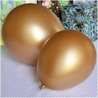 Latex Solid Balloons, 12-inch, 12-Piece, Gold