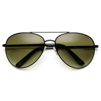 Unisex Round Metal Tear Drop Aviator Sunglasses