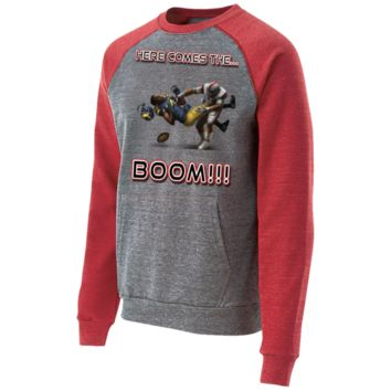 Ohio State Buckeyes vs Michigan Wolverines - Here Comes The Boom Vintage Fleece Heathered Crew