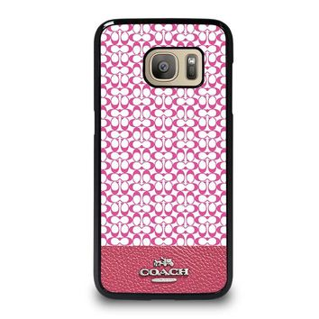 COACH NEW YORK PINK Samsung Galaxy S7 Case Cover