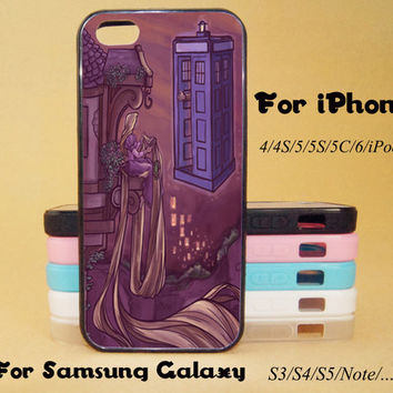 Tangled,Dr.Who,iphone 5 case,iPhone 5C Case,iPhone 5S Case,iPhone 4 Case, iPhone 4S Case,Galaxy Samsung S3, S4,S5