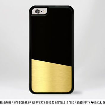 Black and Gold Color Block iPhone Case Modern Geometric iPhone Case Gold iPhone 4 Case iPhone 5 Case iPhone 4s Case iPhone 5s Iphone