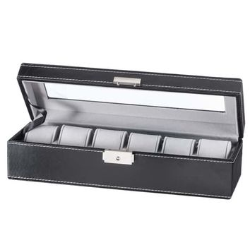Sorbus Black 6 Slot Watch Box | Overstock.com Shopping - The Best Deals on Watch Boxes
