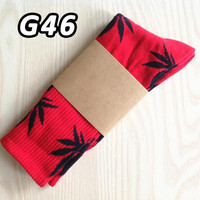 Socks Leaf Printed Pattern Women's Socks
