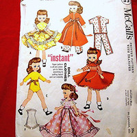 1950s Doll Clothes Pattern McCalls 10-1/2 inch to 11 inch Doll Vintage Sewing Pattern