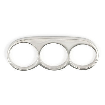 3 Finger Ring - White Brass Knuckle Duster
