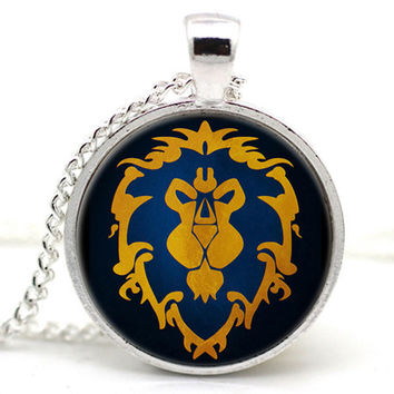 Wow World of Warcraft Necklace Logo Alliance Classic
