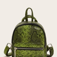Snakeskin Pocket Front Backpack