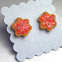 Strawberry Frosted Cookie Earrings