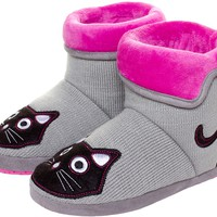 T.U.K. KITTY SLIPPERS GRAY/PINK
