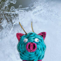 Recycled Paper Ornament - Pig