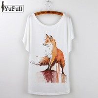 Fox Animal Print T-Shirt