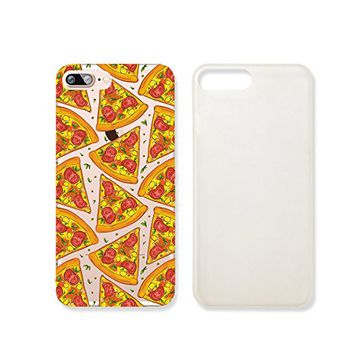 Pizza Pattern Clear Transparent Plastic Phone Case for iphone 7 _ SUPERTRAMPshop (iphone 7)