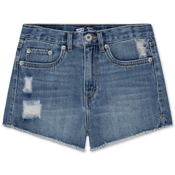Levi's® Girls' High Rise Denim Shorty Shorts - Shorts - Kids & Baby - Macy's