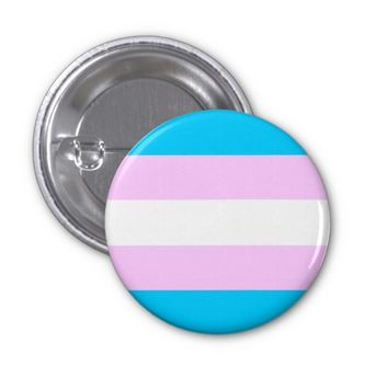 Transgender Pride Rainbow Flag 1 Inch Round Button