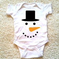 Snowman baby Onesuit, for newborn and babies, 6 months, 12 months, 18 months, holiday Onesuit, graphic Onesuit, baby boys