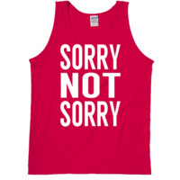 Sorry Not Sorry Tanktop by 99 Crowncat - Words Print Tees - Tank Tops