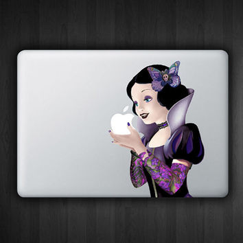 "Tattoo Snow White 13"" Macbook Decal Macbook Sticker Air Pro Vinyl Decal Sticker Skin for Apple Laptop"