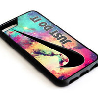 Best Nike_Just Do It Galaxy Nebula iPhone 5 5s 5c 6 6s 7 8 X Plus Protect Case