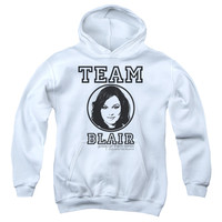 GOSSIP GIRL/TEAM BLAIR-YOUTH PULL-OVER HOODIE - WHITE -