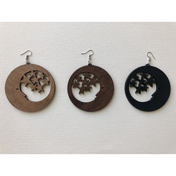 All the Stars Wooden Earrings