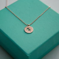 Rose gold Sagittarius Necklace, Sagittarius Pendant Necklace, Zodiac Sign Necklace,  Sagittarius Astrology Birthday Sign Pendant Necklace