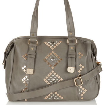 Geo Studded Holdall - Cross Body Bags - Bags & Purses - Accessories - Topshop