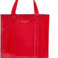 Balenciaga - Bazar patent-leather tote