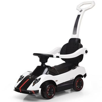 Kids Ride On Push Around Car 2-in-1 Electric