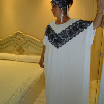 Dubai Very Fancy Kaftans abaya jalabiya Ladies Maxi Dress +HEAD SCARF /all sizes Free international shipping