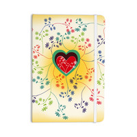 "Famenxt ""Romantic"" Yellow Heart Everything Notebook"