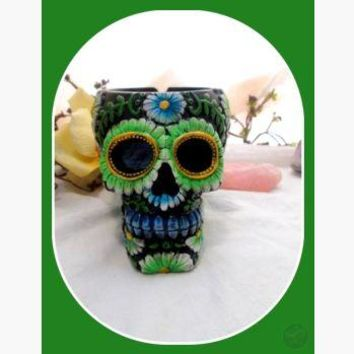 Day of the Dead Ash Catcher Skull