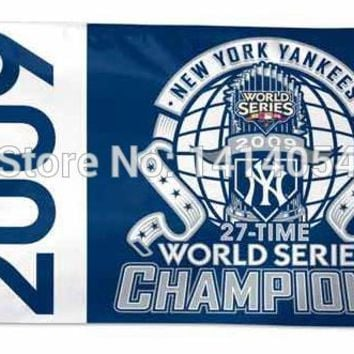 New York Yankees 2009 World Series Champions Flag 150X90CM  MLB 3x5 FT