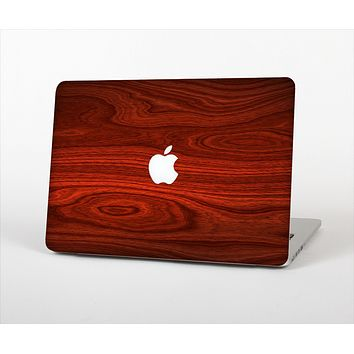 The Rich Red Wood grain Skin Set for the Apple MacBook Air 13""