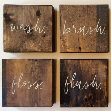 Bathroom Wall | Bathroom Wall Decor | Bathroom Decor | Rustic Si