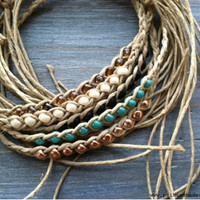 Beaded Hemp Wish -  Friendship Bracelet - More Colors