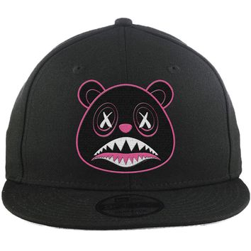Blackout Pink Baws - New Era 9Fifty Black Snapback Hat