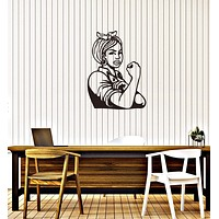 Vinyl Decal Wall Sticker Home Living Room Decor Strong Woman Pin Up Unique Gift (g026)