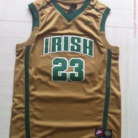 Rare LeBron James 23 Irish High School Jersey St. Mary New NBA Jersey Lebron James Basketball Jersey All Stitched and Sewn Any Size S - XXL