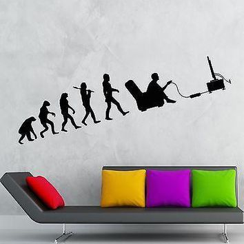 Gamer Wall Decal Evolution Video Game Kids Room Vinyl Sticker Art Mural Unique Gift (ig2538)