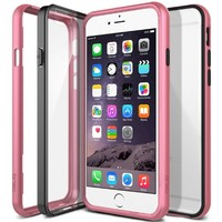 iPhone 6 Case, Obliq [Metallic Bumper] iPhone 6 (4.7) Cases [MCB one][Metallic Pink] - New Technology PC/TPU/PC Triple Hybrid Fusion (Metalized Cover + Crystal Clear back panel) Scratch Free Anti Shock - Best Apple iPhone 6 case for 4.7 Inch (2014)-(Does N