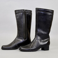 Black FAUX SHEEPSKIN Lined Winter Boots (US 10)