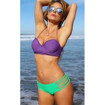 Kingston Push-Up Underwire Bandeau - Purple Rain